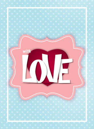 Valentines Day heart symbol. Love and feelings background design. Vector illustration.