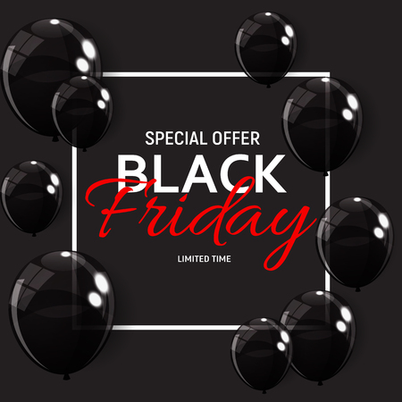 Black Friday Sale Banner Template. Vector Illustration.