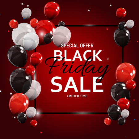 Black Friday Sale Banner Template. 向量圖像