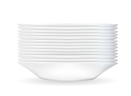 Realistic 3D model of a deep white dish.