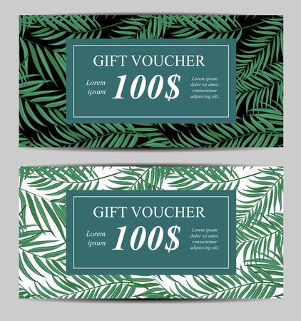 Gift Vouchers Template illustration.