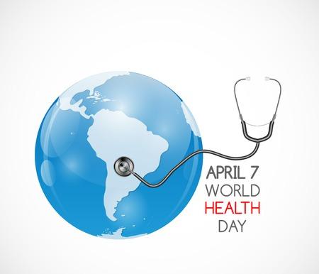 April 7, World Health Day Background. Vector Illustration. Vettoriali
