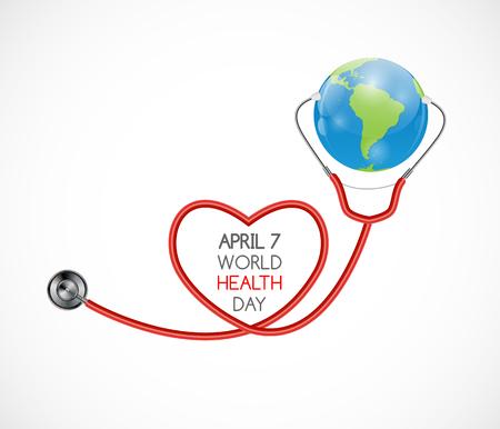 7 april, Wereldgezondheidsdag achtergrond. Vector illustratie