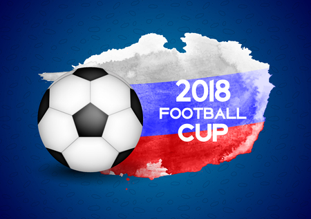 2018 Football Cup Sport Background Vector Illustration