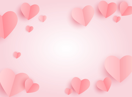 Valentines Day Heart Symbol. Love and Feelings Background Design. Vector illustration Banco de Imagens