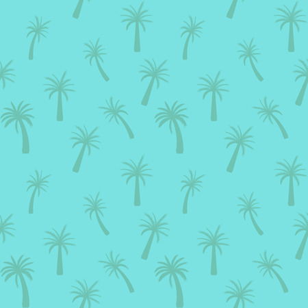 Beautifil Palm Tree Leaf  Silhouette Seamless Pattern Background Vector Illustration.