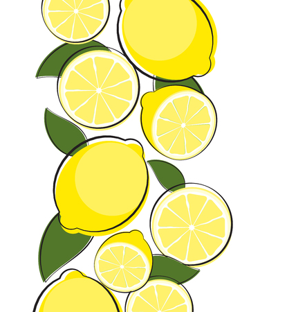 Abstract Lemon Natural Background Vector Illustration EPS10