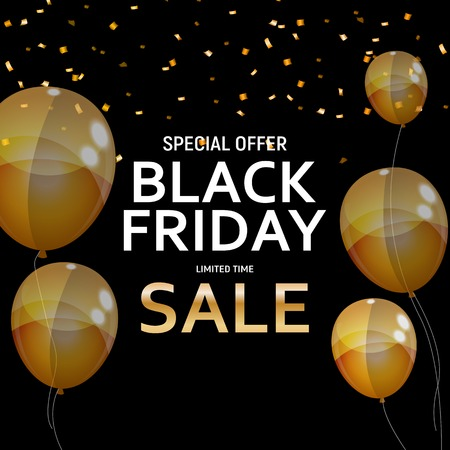Black Friday Sale Banner Template. Vector Illustration EPS10