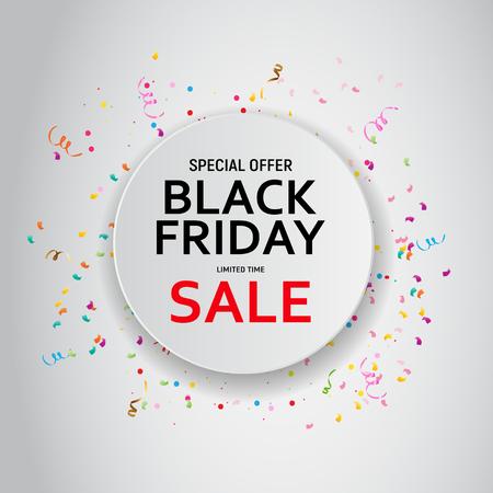 Black Friday Sale Banner Template. Vector Illustration EPS10 Stock Illustratie