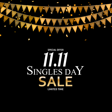 November 11 Singles Day Sale. Vector Illustration Stock Illustratie