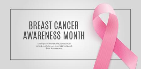 Breast Cancer Awareness Month Pink Ribbon Background Vector Illustration EPS10