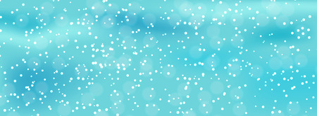 Colorful naturalistic winter background with falling snow on drifts. Vector Illustration. EPS10