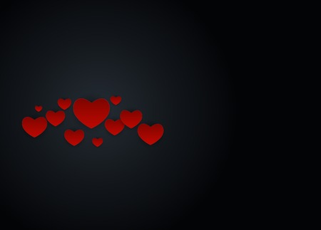 Valentines Day Love and Feelings Background Design. Vector illustration Reklamní fotografie