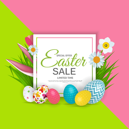 Abstract Easter Sale Template Background Vector Illustration EPS10