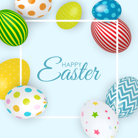 Streszczenie Wesołych Świąt Wielkanocnych Szablon Tło Wakacje Ilustracja Wektorowa Eps10