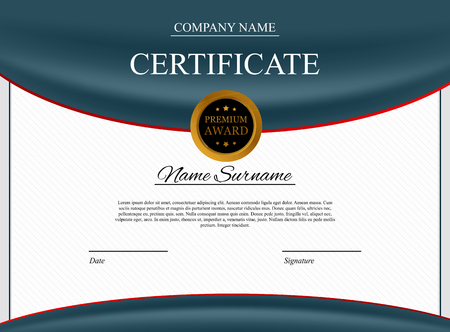 Certificate template Background. Award diploma design blank. Stok Fotoğraf - 120365006