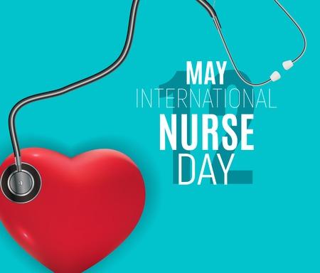 12 de mayo Día internacional de la enfermera Antecedentes médicos Ilustración vectorial EPS10 Ilustración de vector