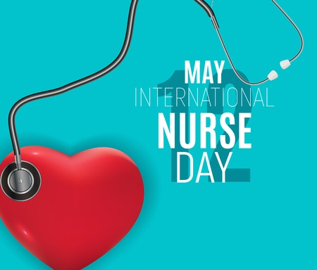 12 May International Nurse Day Medical background Vector illustration EPS10 Иллюстрация