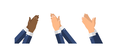 Flat Design Clapping Hand Applause template. Vector Illustration EPS10 Ilustracja