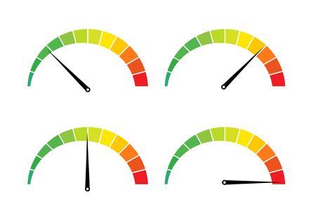 Icône de mesure internet test de vitesse. Vecteurs
