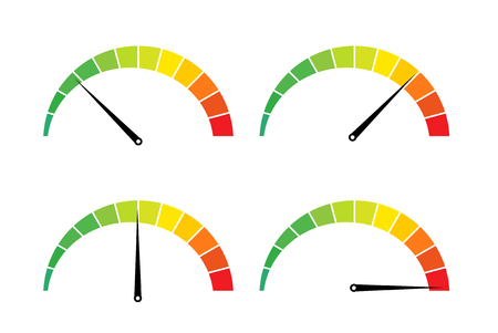 Prueba de velocidad icono de medida de internet. Ilustración de vector