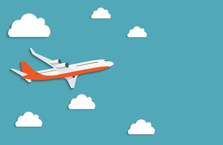 Concetto di spedizione di consegna espressa dell'aeroplano volante.