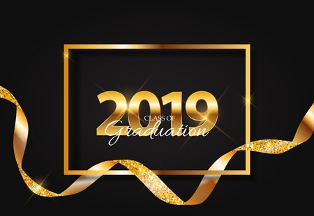 Class of 2019  Graduarion Education Background. Vector Illustration