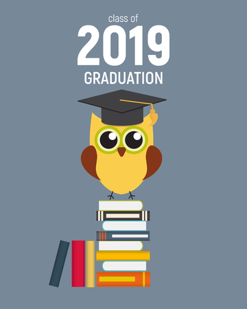 Class of 2019  Graduarion Education Background. Vector Illustration
