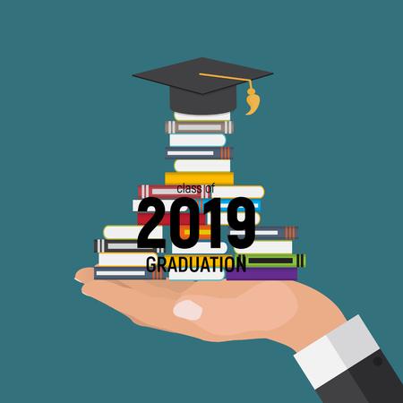 Class of 2019  Graduarion Education Background. Vector Illustration Фото со стока - 120803858