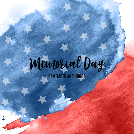 Memorial Day in USA Background Template Vector Illustration EPS10  イラスト・ベクター素材