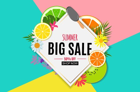 Abstract Summer Sale Background. Vector Illustration EPS10