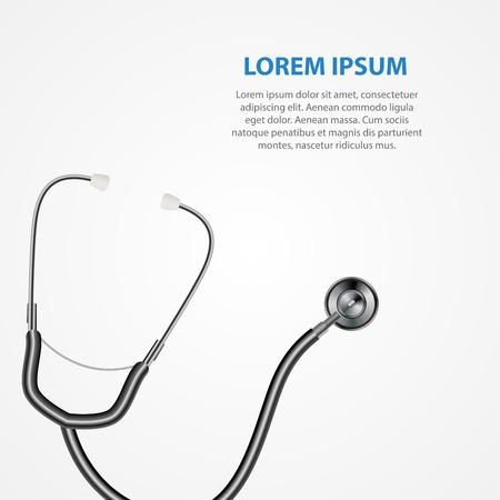 Fondo medico dello stetoscopio dello strumento. Illustrazione vettoriale Eps10