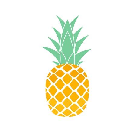 Diseño de símbolo de icono de piña de fruta tropical. Ilustración vectorial EPS10 Ilustración de vector