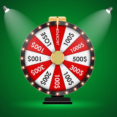 Wheel of Fortune, Lucky background. Vector Illustration EPS10