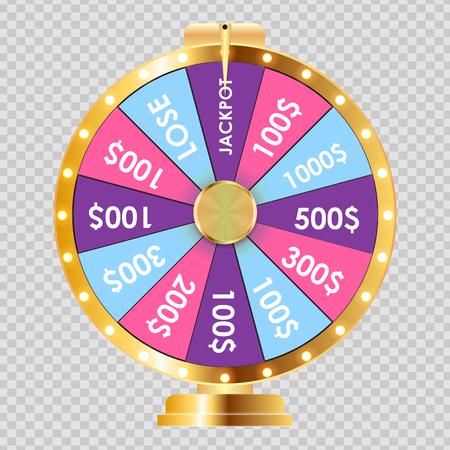 Ruota della fortuna, icona fortunata. Illustrazione vettoriale Eps10