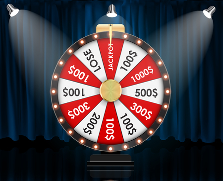 Wheel of Fortune, Lucky background. Vector Illustration EPS10