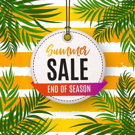 Colorful Abstract Summer Sale Background. Vector Illustration Ilustracja
