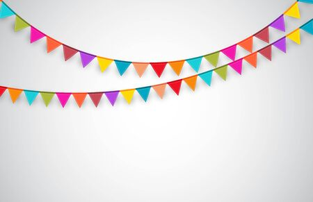 Party Background with Flags.  Vector Illustration.