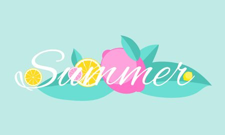 Abstract Summer  Lemon Background Vector Illustration