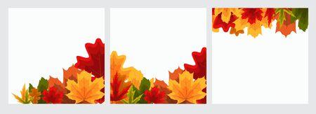 Autumn Natural Leaves Background. Vector Illustration Иллюстрация