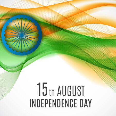 15th August India Independence Day celebration background. Vector Illustration EPS10  イラスト・ベクター素材