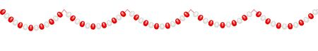 Christmas decorations, string garlands with balls , isolated on white background. Vector Illustration EPS10 Çizim