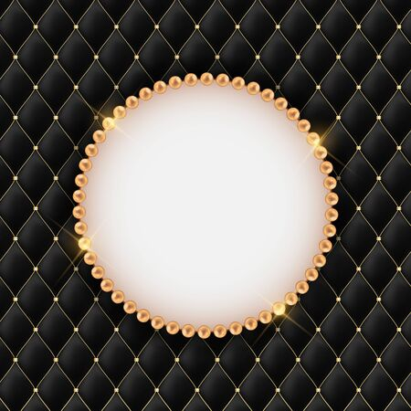 Abstract Beautuful Background with Pearl Frame. Vector Illustration EPS10 Çizim
