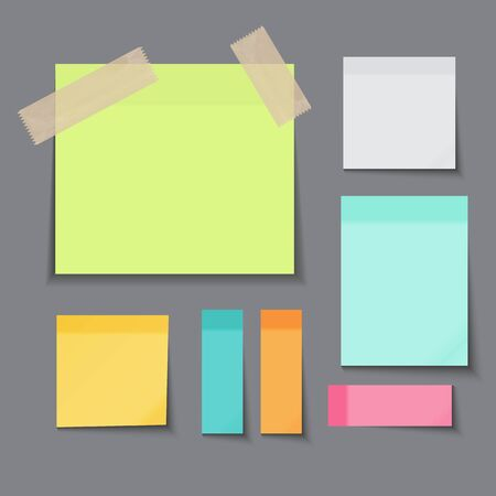 Sticky Paper Note on Dark Background Vector Illustration