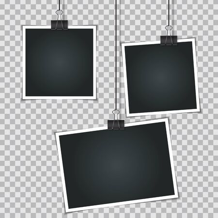 Abstract Photos on Transparent  Background  Vector Illustration EPS10