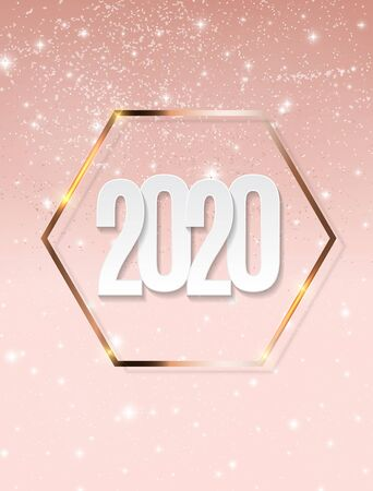 Happy 2020 New Year Background. Vector Illustration EPS10