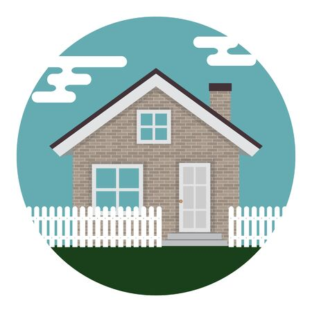 Abstract House Icon on White Background. Vector Illustration EPS10  Иллюстрация