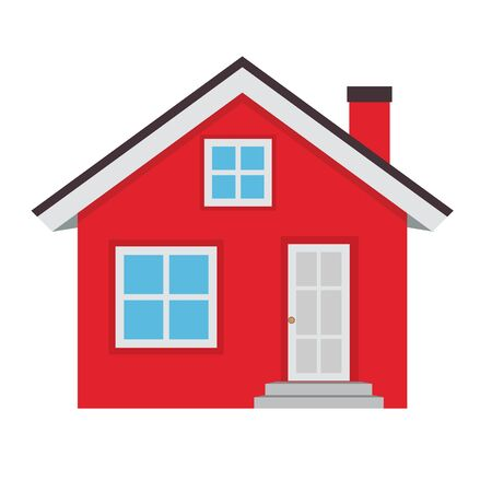 Abstract House Icon on White Background. Vector Illustration EPS10