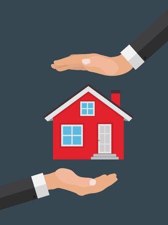 Real estate concept.  Buy house poster. Vector Illustration Illustration