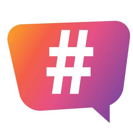 Hashtag icon template design. Vector Illustration